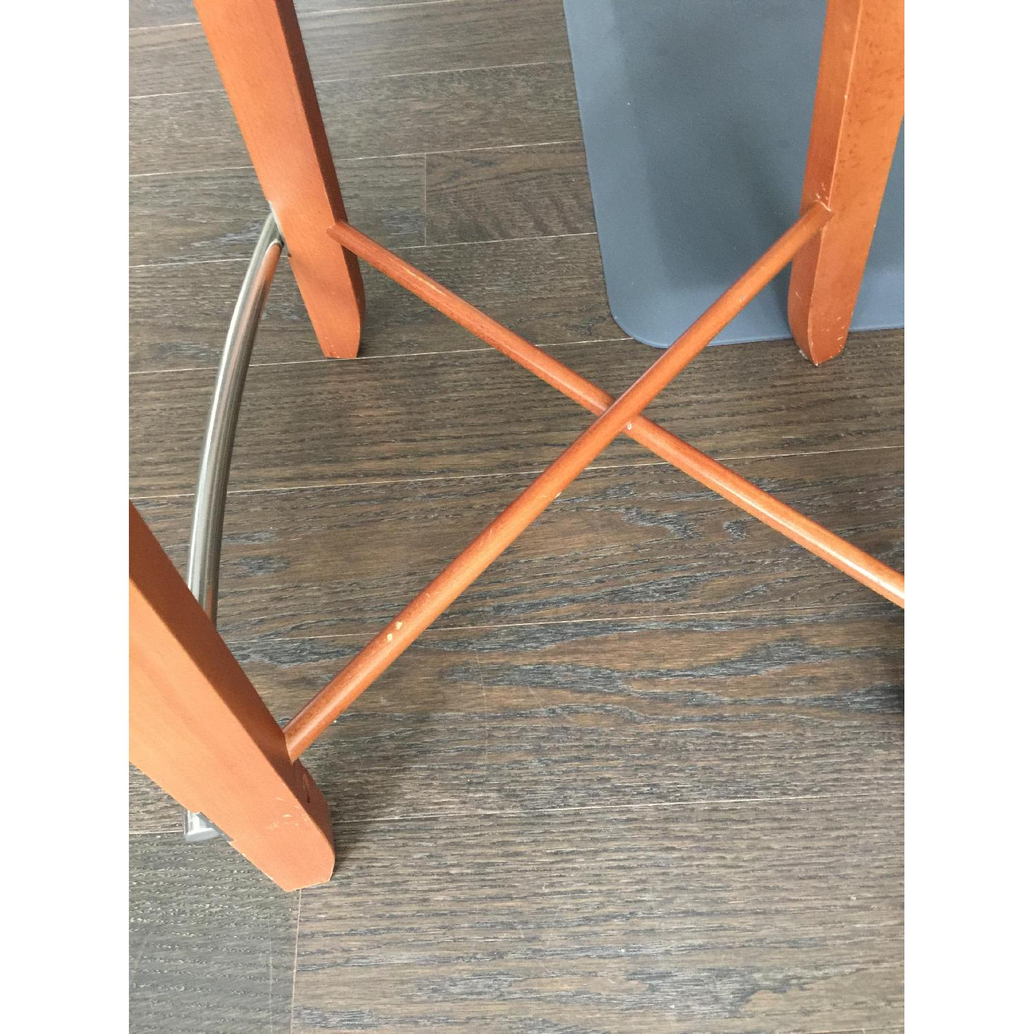 The Morson Collection Cherry Veneer & Ultrasuede Dining Stools - image-7