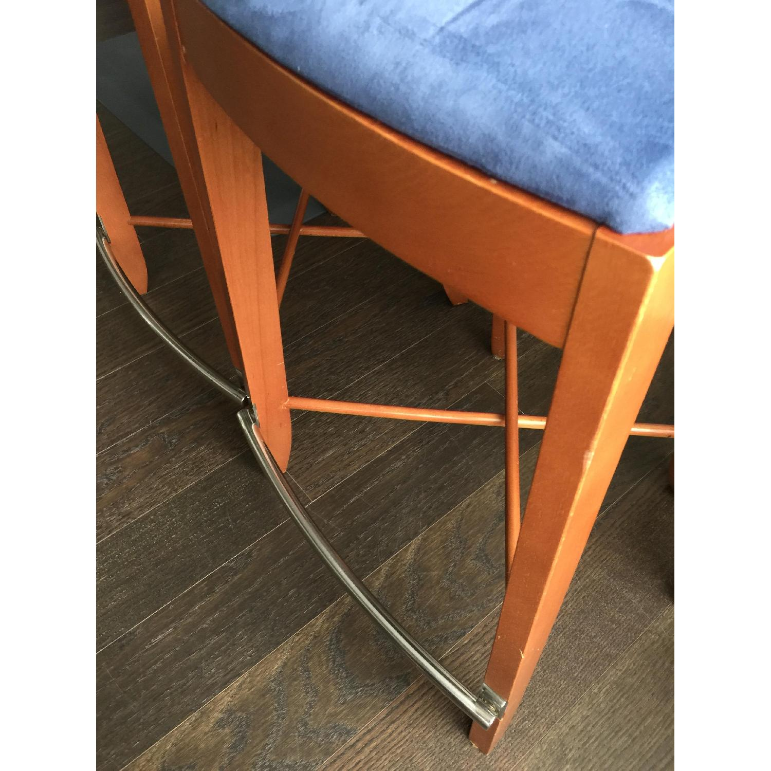 The Morson Collection Cherry Veneer & Ultrasuede Dining Stools - image-11