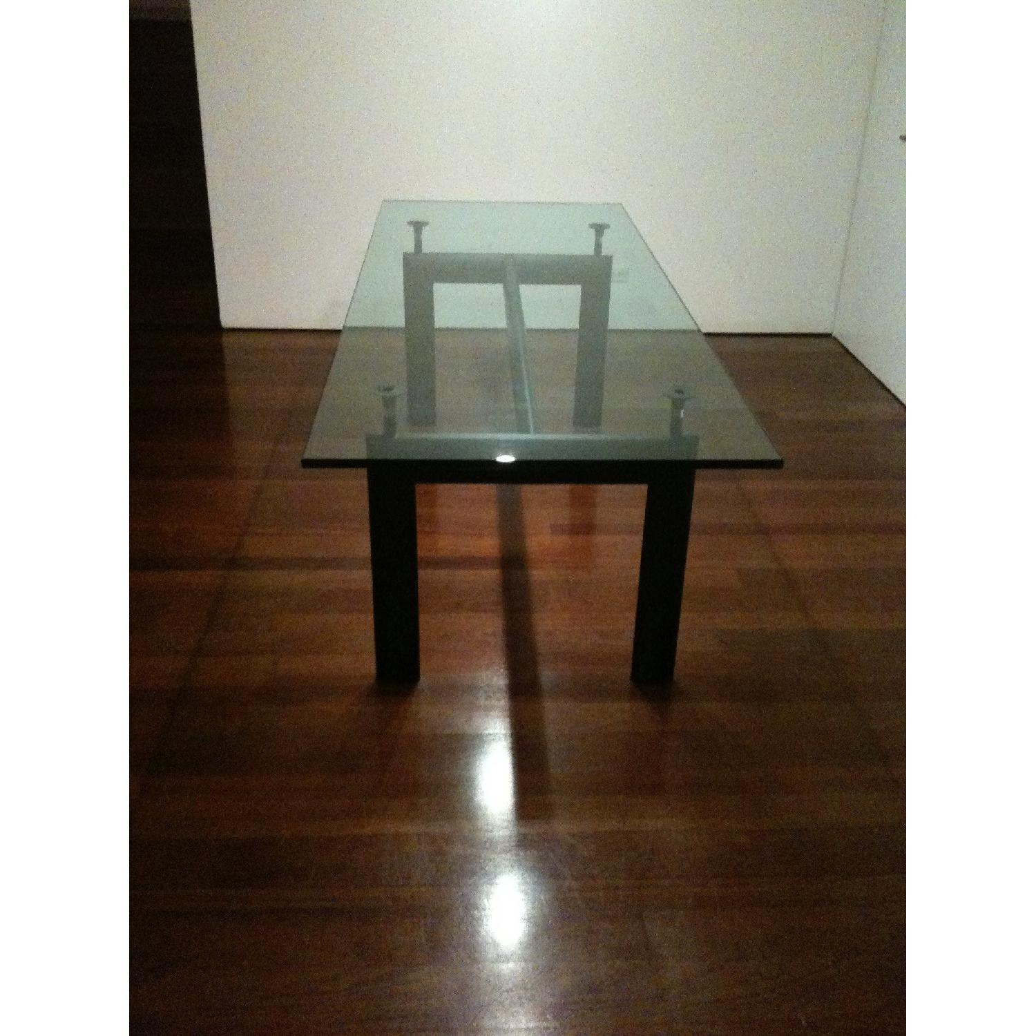 Design Within Reach Le Corbusier Glass Dining Table - image-3