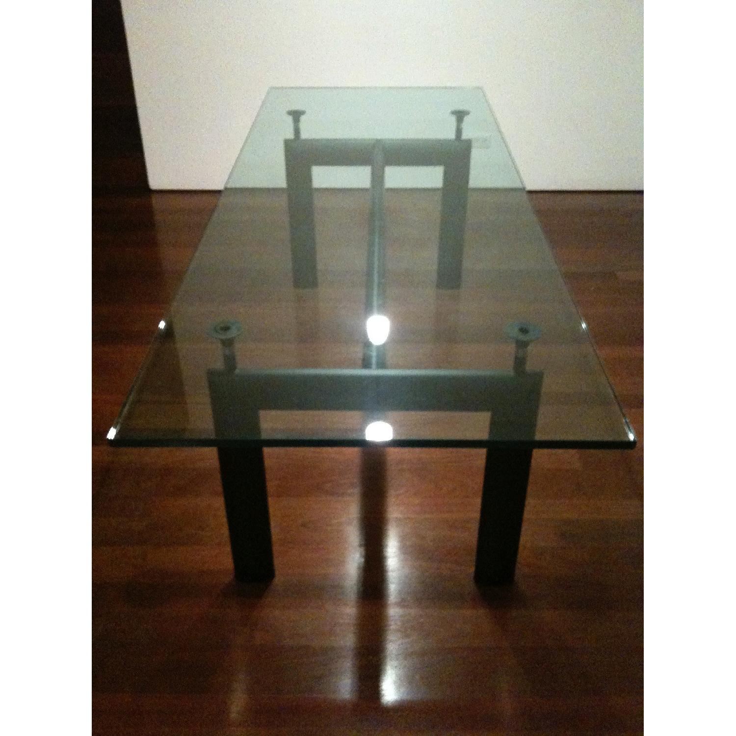 Design Within Reach Le Corbusier Glass Dining Table - image-4