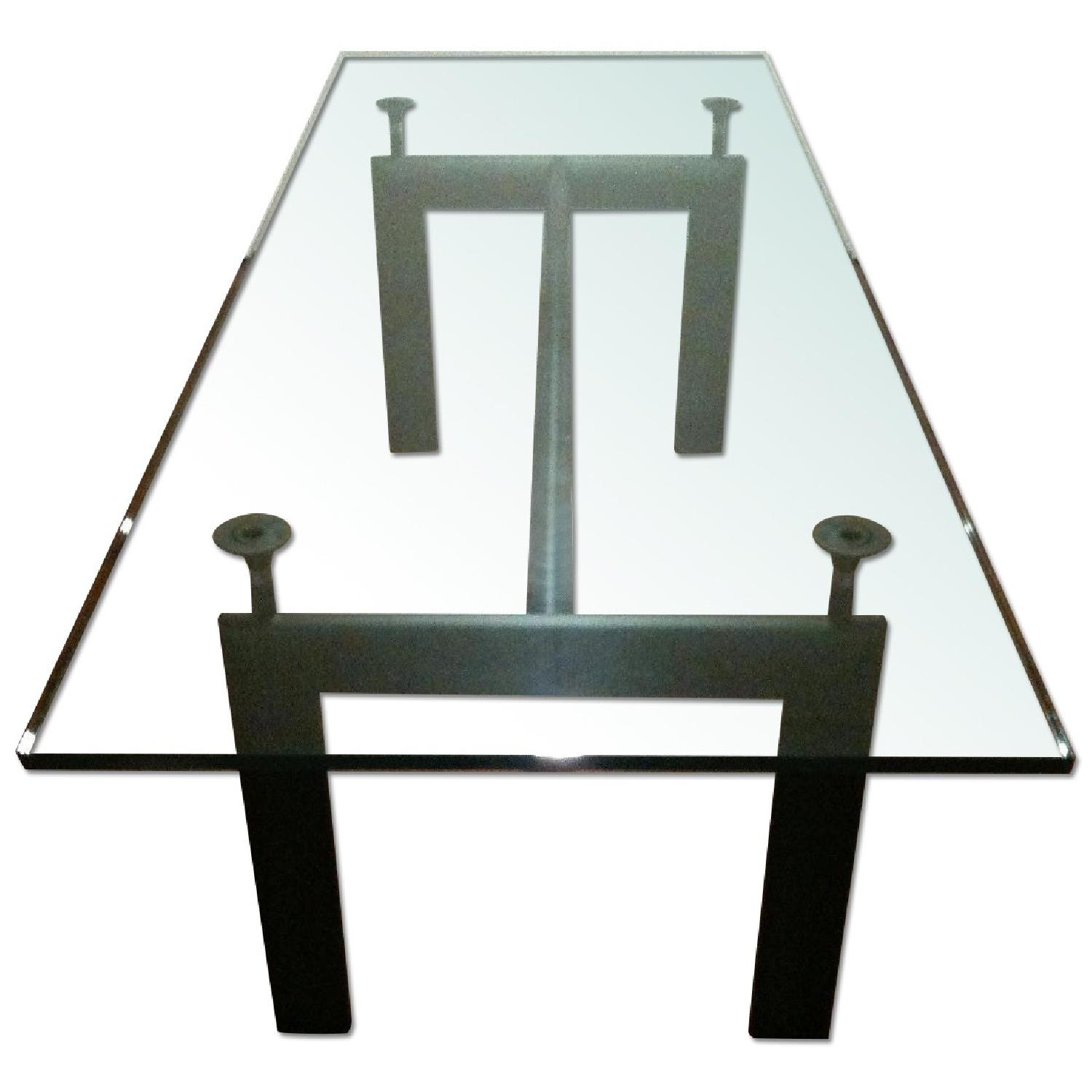 Design Within Reach Le Corbusier Glass Dining Table - image-0