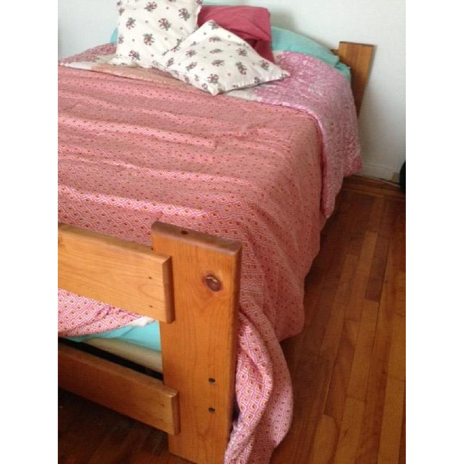 Solid Wood Double Bed Frame - image-1