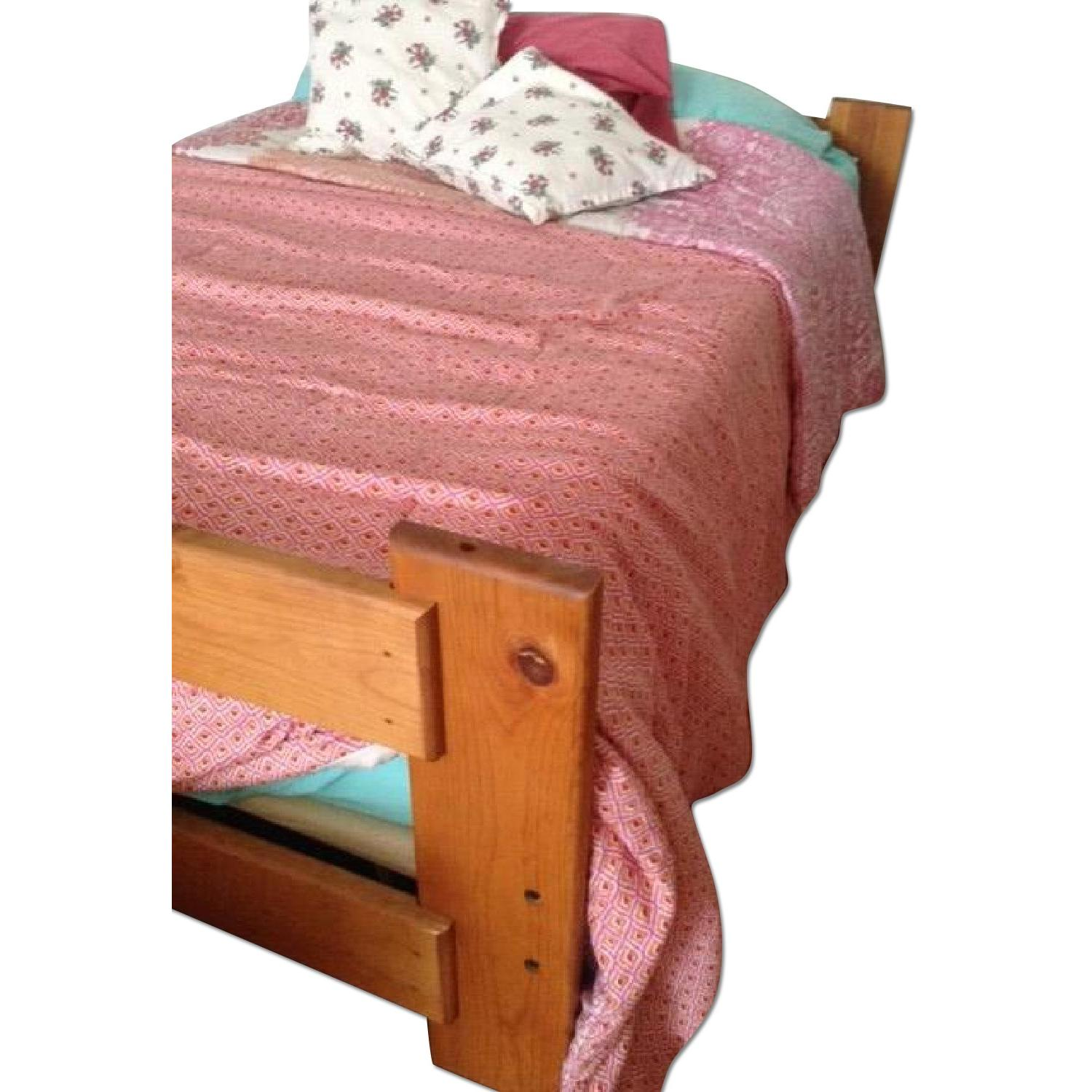 Solid Wood Double Bed Frame - image-0