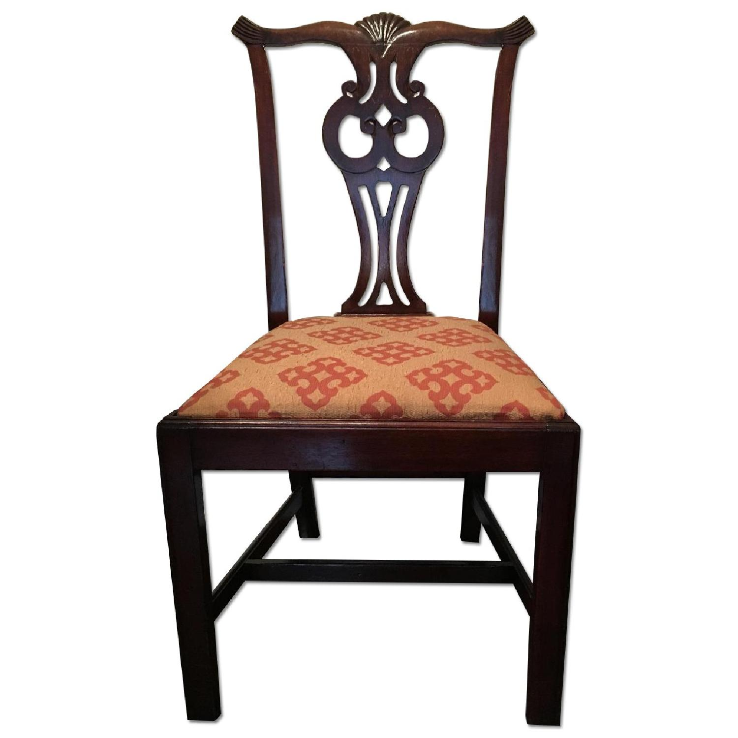 Vintage Chippendale Dining Chairs w/ Arms - image-0