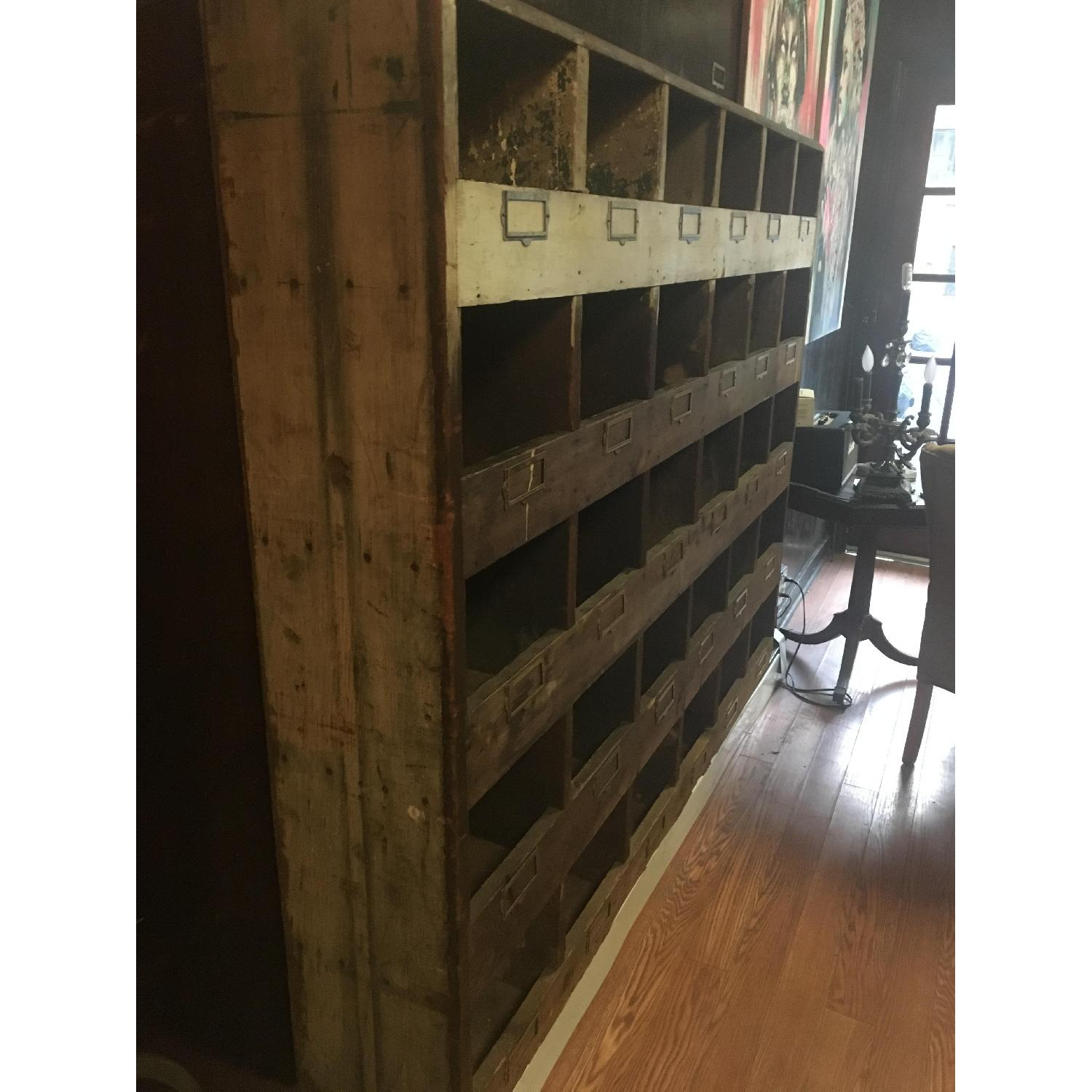 Old Hardware Cubby Mail Sorter - image-2