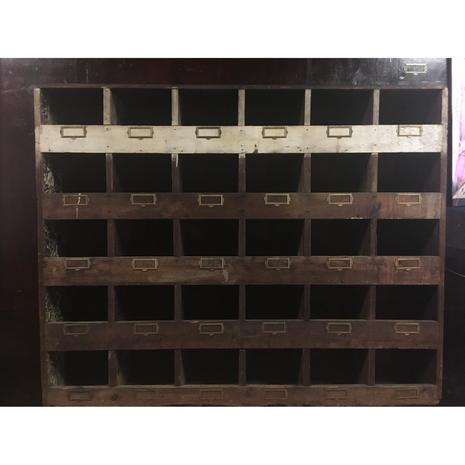 Old Hardware Cubby Mail Sorter - image-4