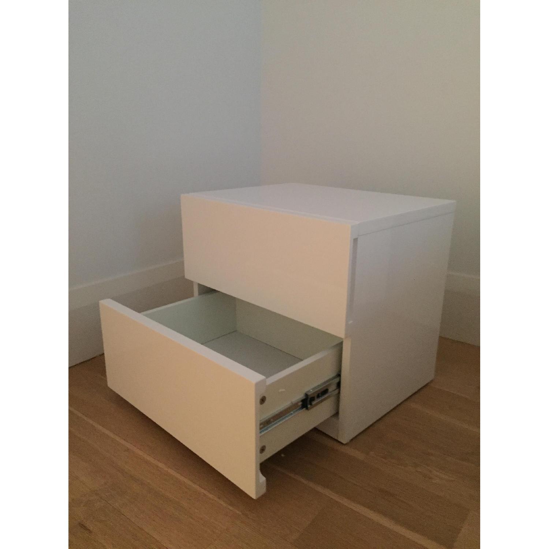 Modern White Nightstand - image-4