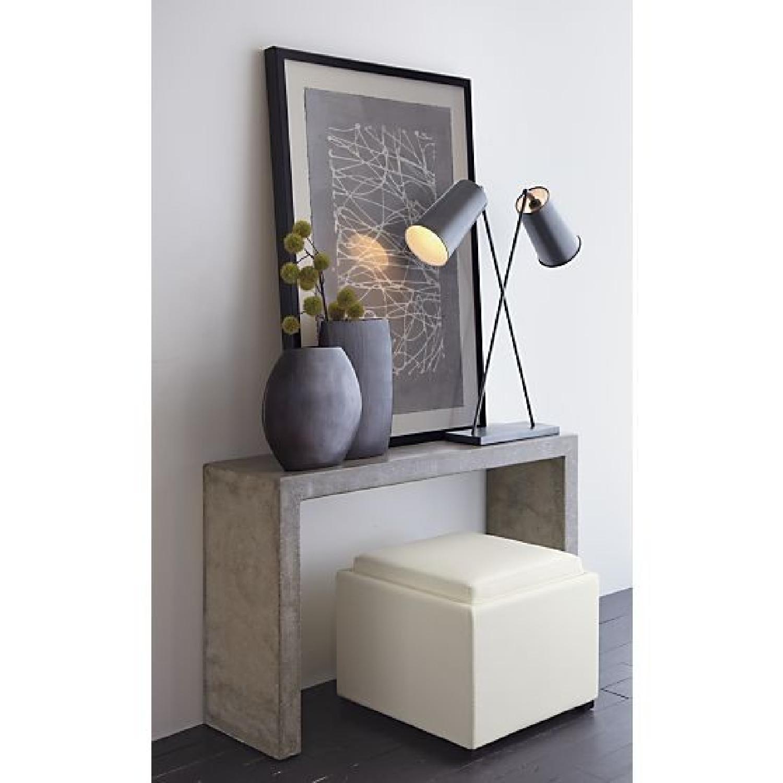 Crate & Barrel Mason Concrete Console Table - image-1