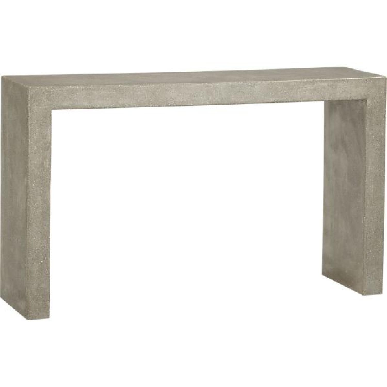 Crate & Barrel Mason Concrete Console Table - image-0