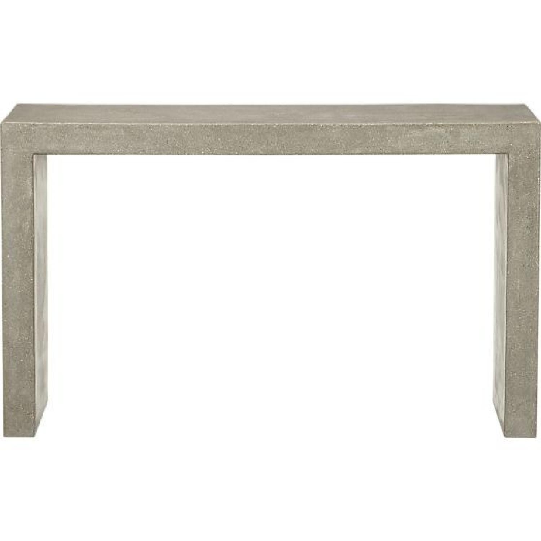 Crate & Barrel Mason Concrete Console Table - image-2