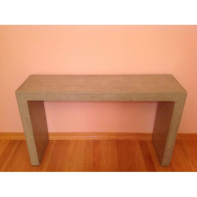 Crate & Barrel Mason Concrete Console Table - image-5