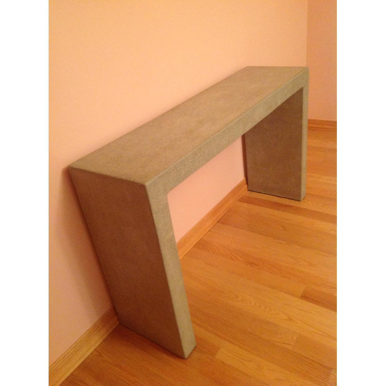 Crate & Barrel Mason Concrete Console Table - image-9