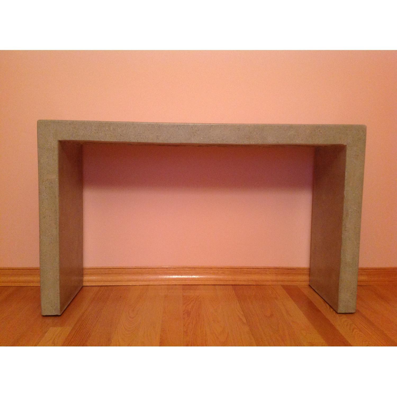 Crate & Barrel Mason Concrete Console Table - image-10