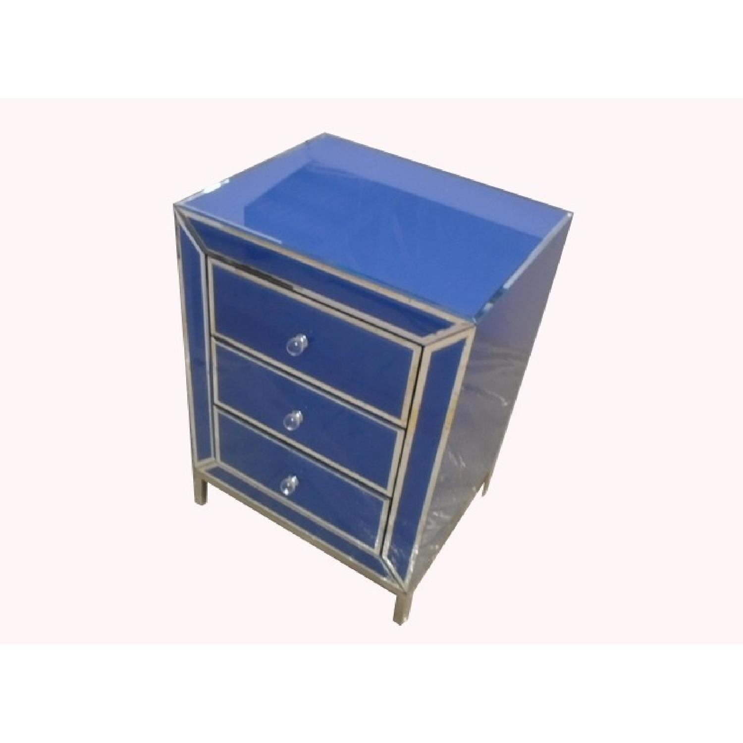 Bedside Side/End Table w/ 3 Drawers - image-0