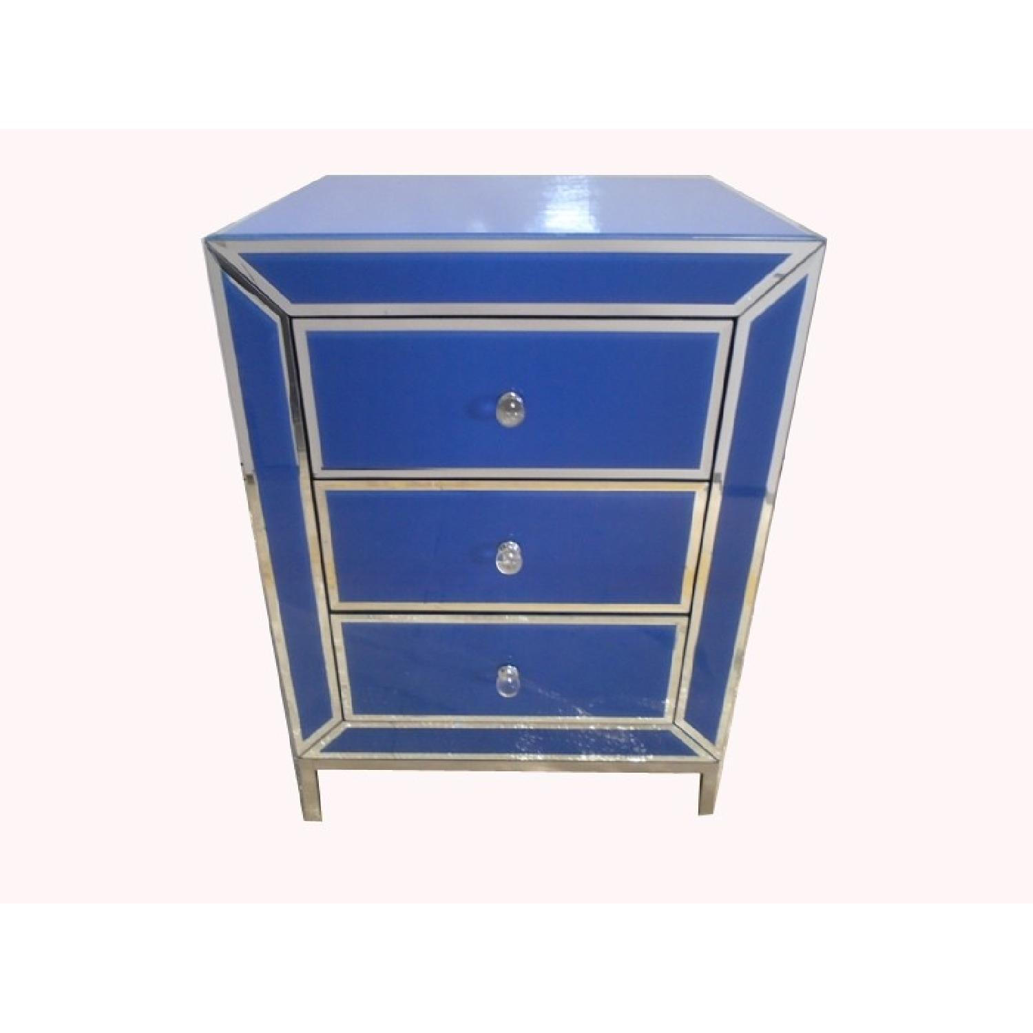 Bedside Side/End Table w/ 3 Drawers - image-1