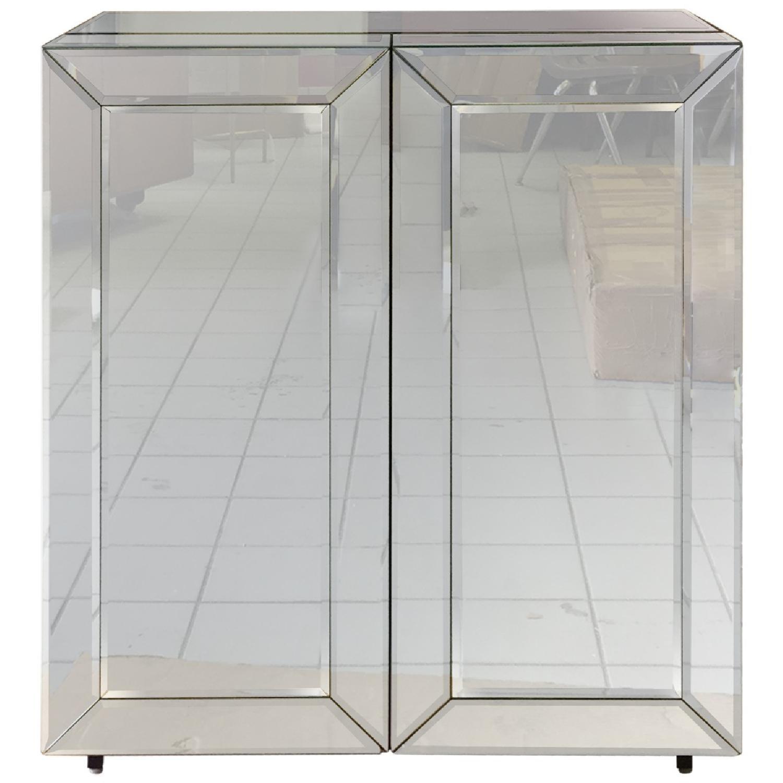Mirrored Wine Bar Cabinet - image-0