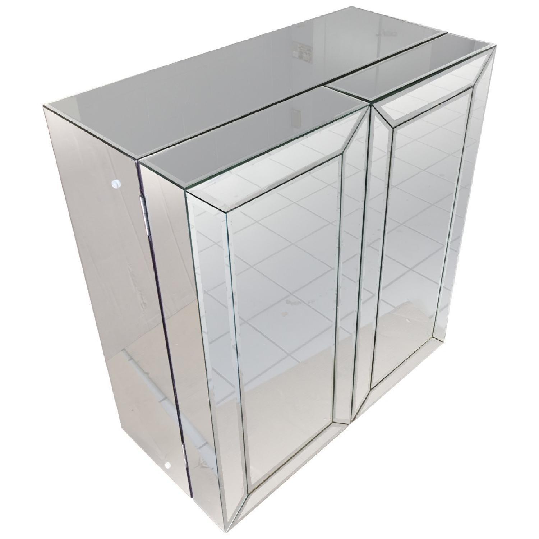 Mirrored Wine Bar Cabinet - image-1