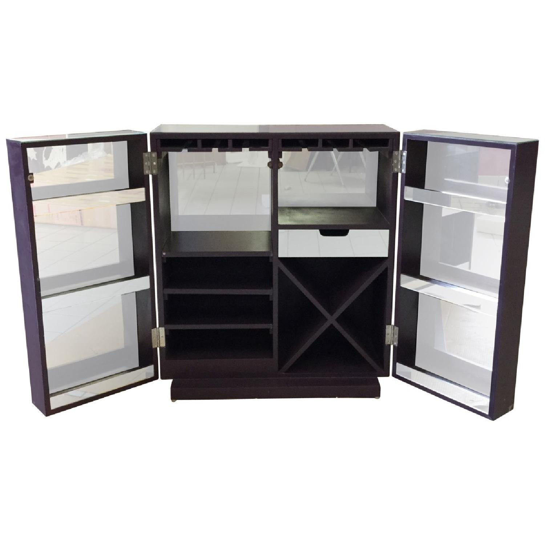 Mirrored Wine Bar Cabinet - image-3