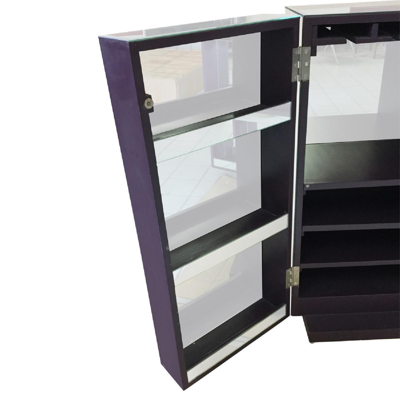 Mirrored Wine Bar Cabinet - image-4