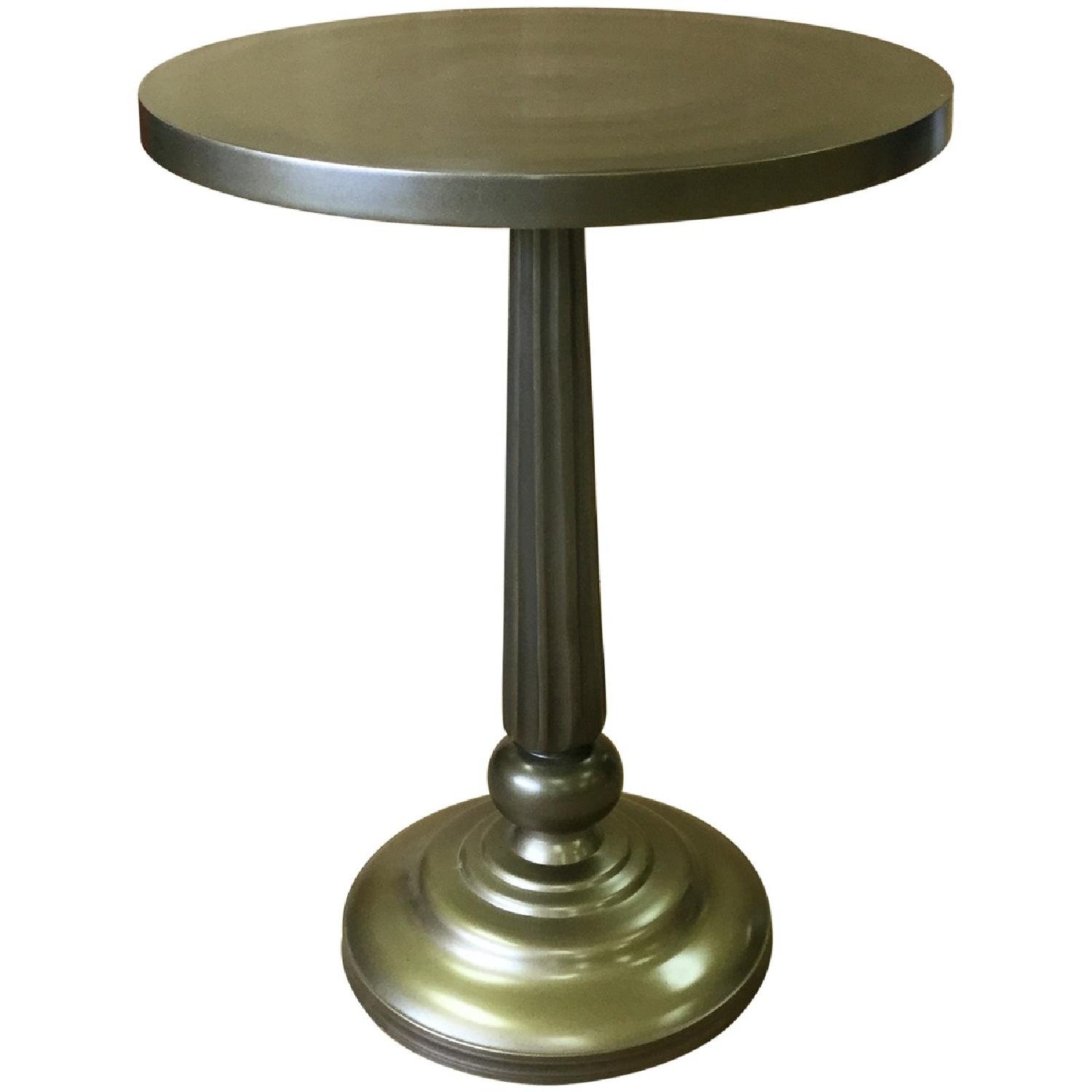 Metal Round Side End Table - image-0