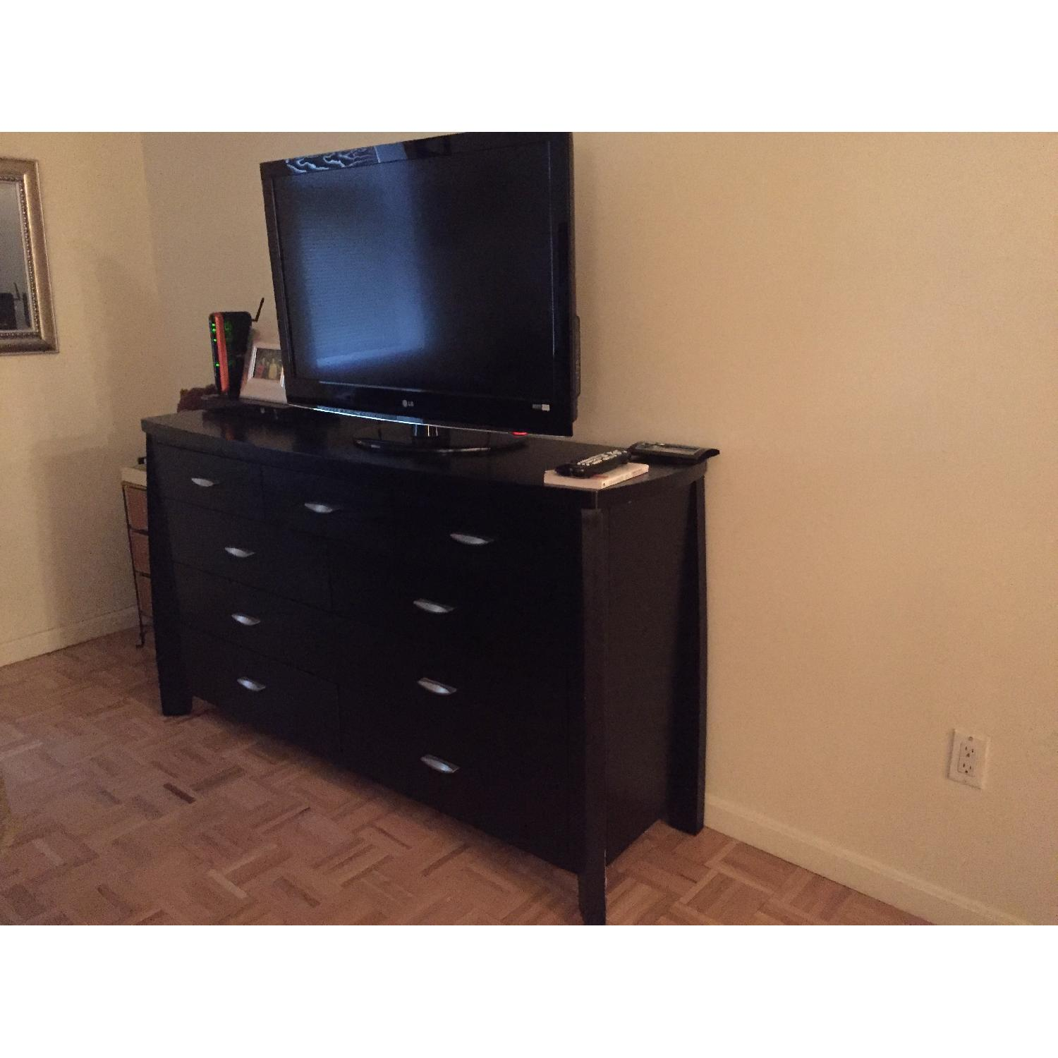 Rooms To Go Black Wood Dresser - image-1
