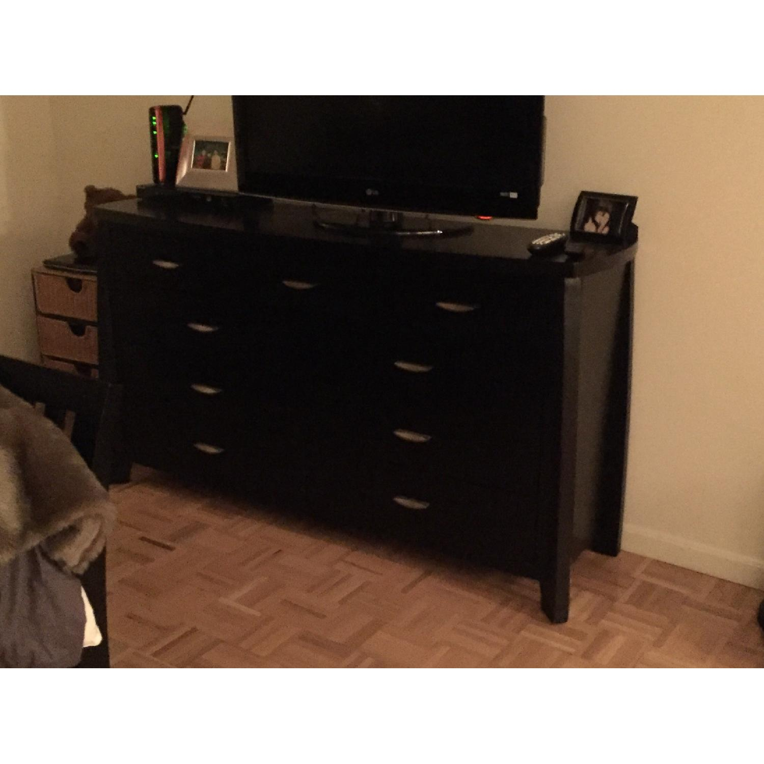 Rooms To Go Black Wood Dresser - image-3