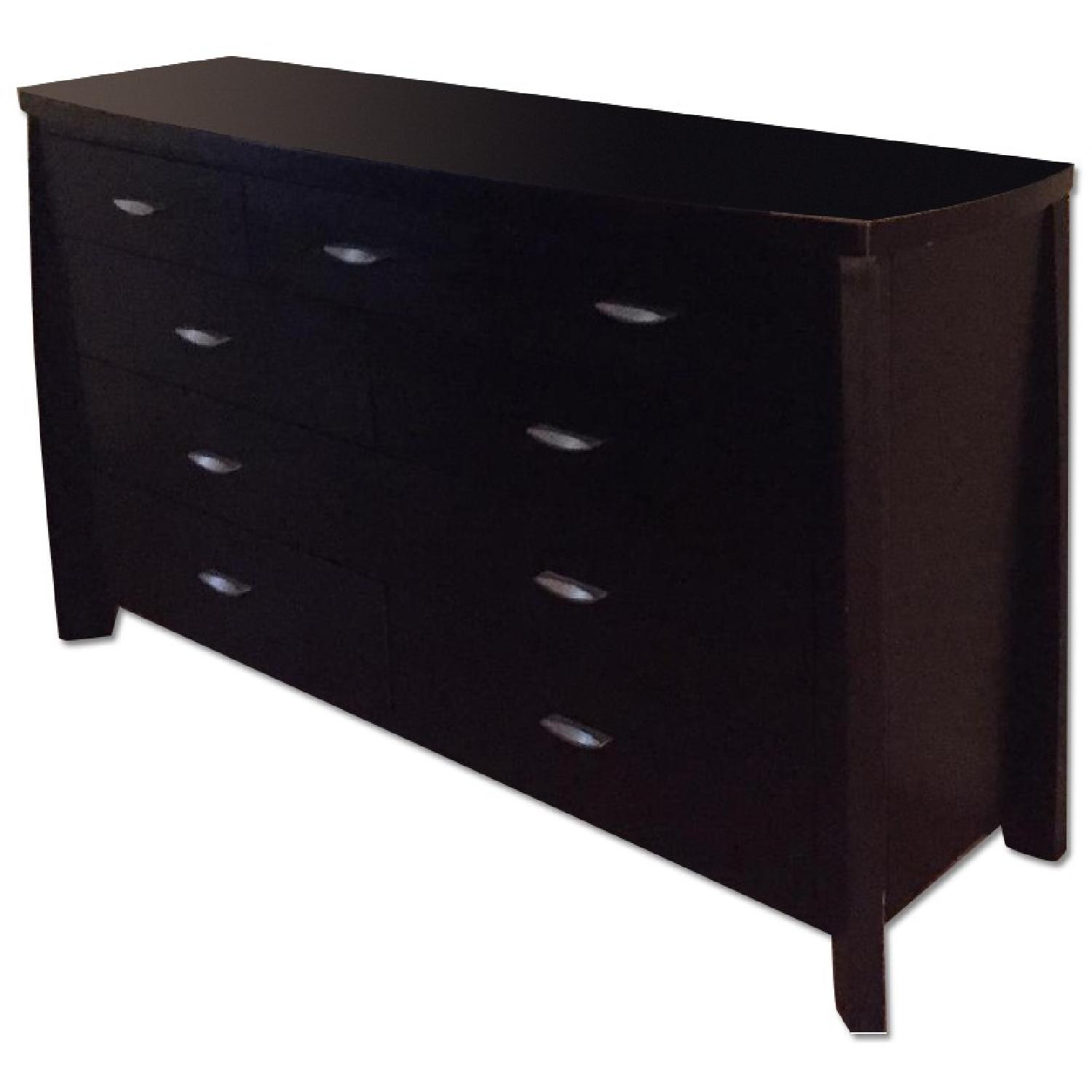 Rooms To Go Black Wood Dresser - image-0