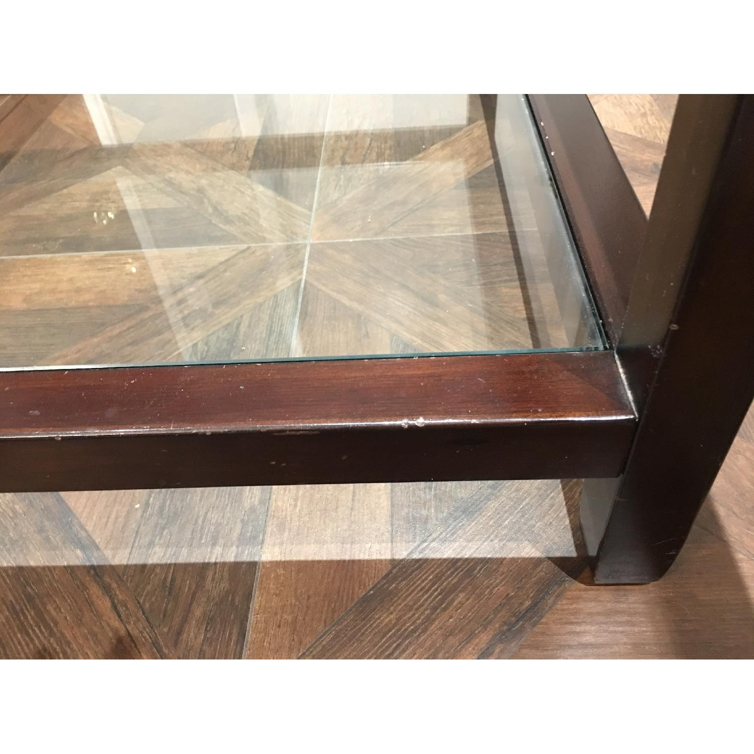 Pottery Barn Glass & Wood Coffee Table - image-12