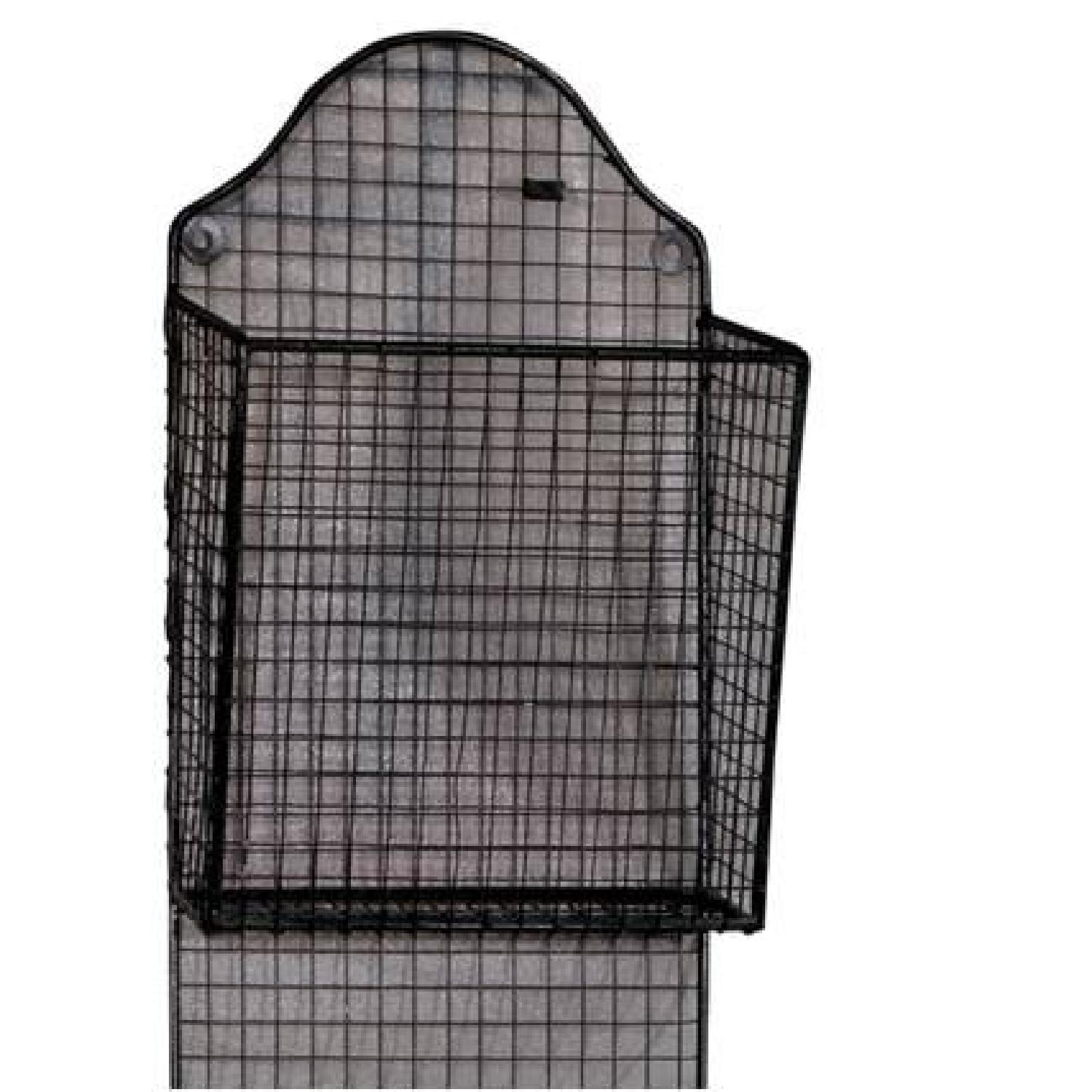 3 Baskets Metal Wire Wall Hanging Rack - image-2
