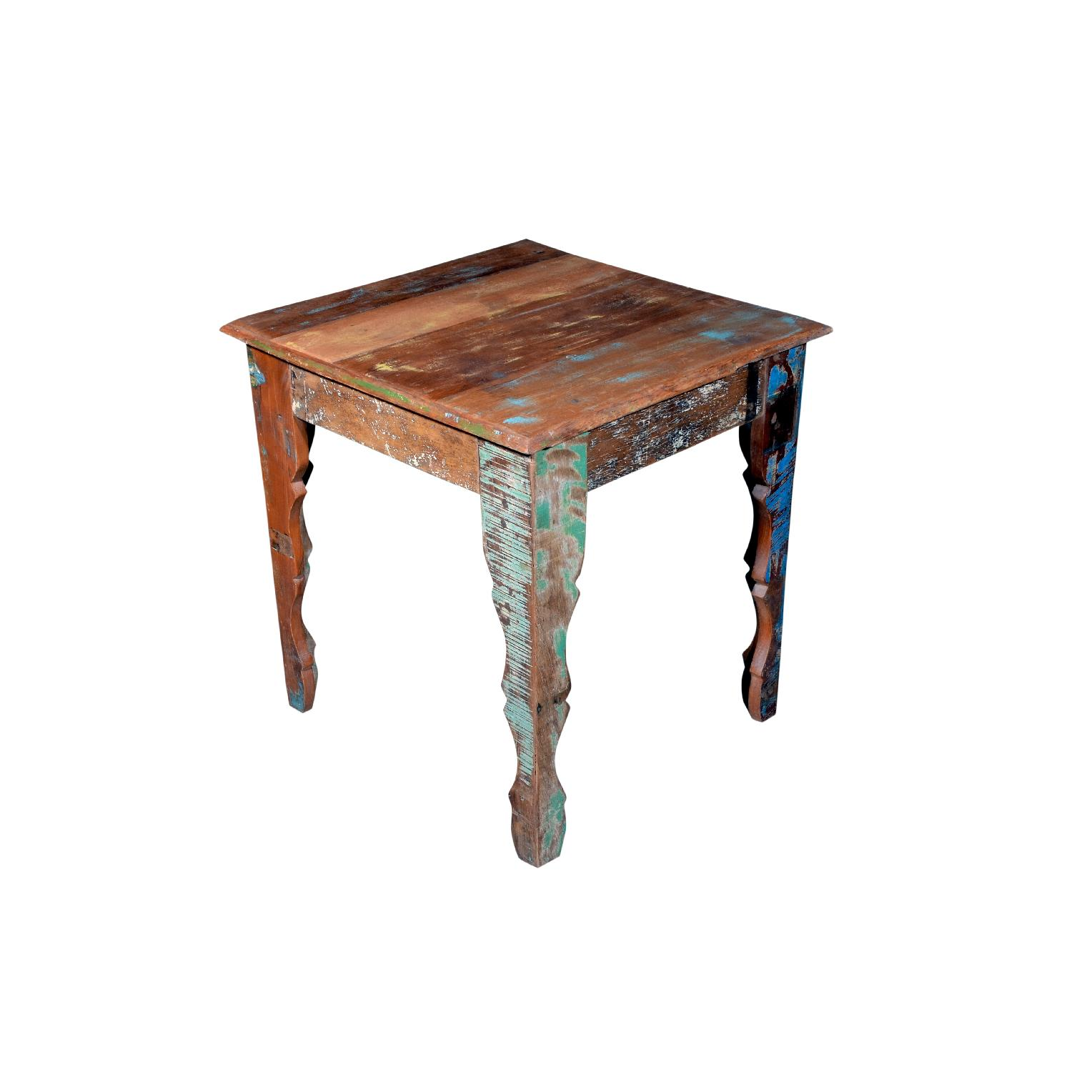 Wooden Square Side End Table - image-1