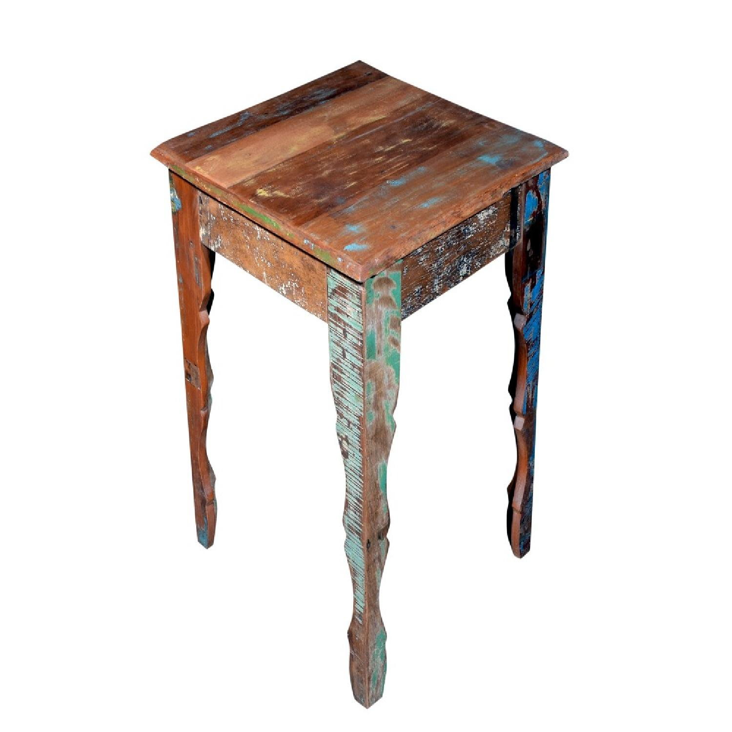 Wooden Square Side End Table - image-2
