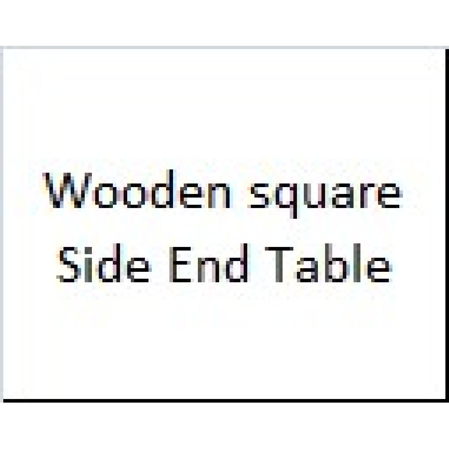Wooden Square Side End Table - image-5