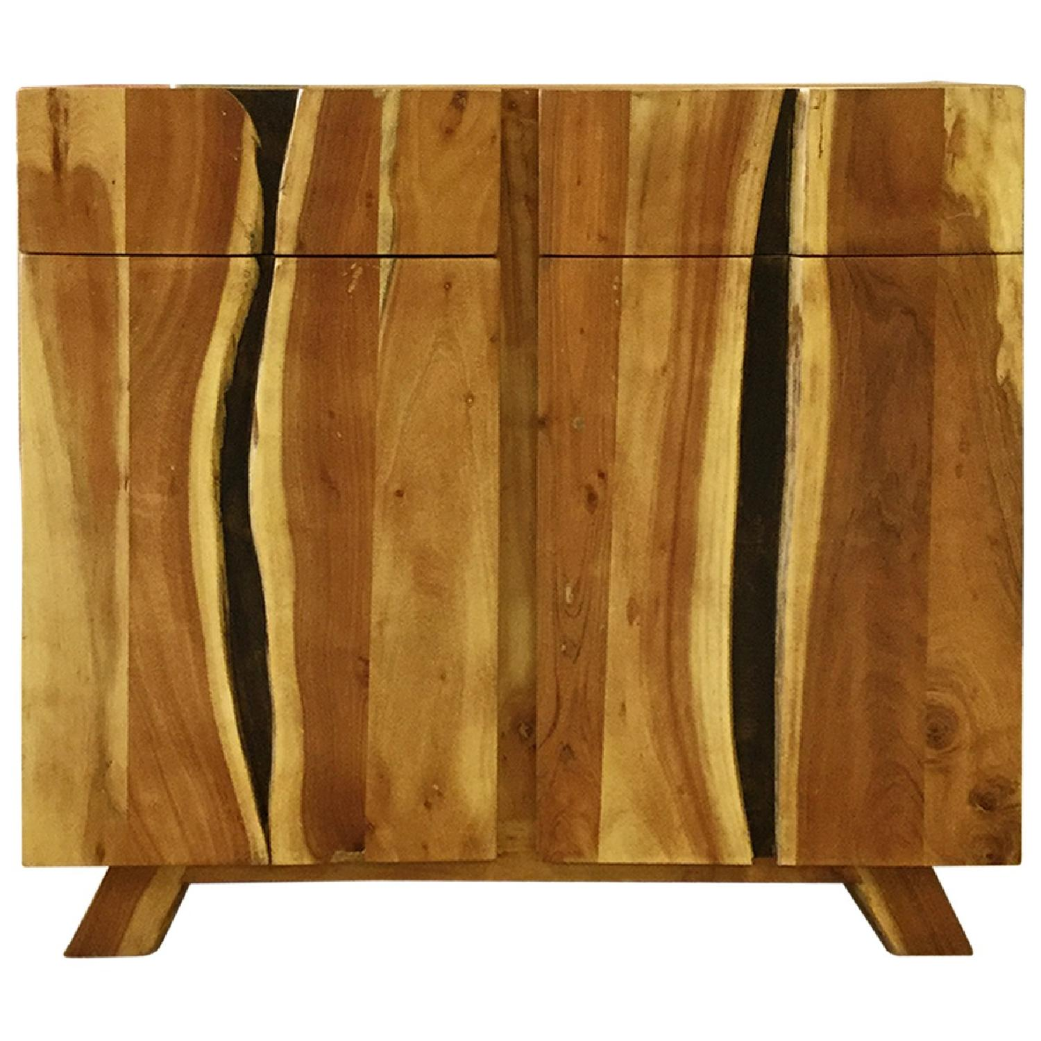 Wooden 2 Drawers Sideboard - image-0