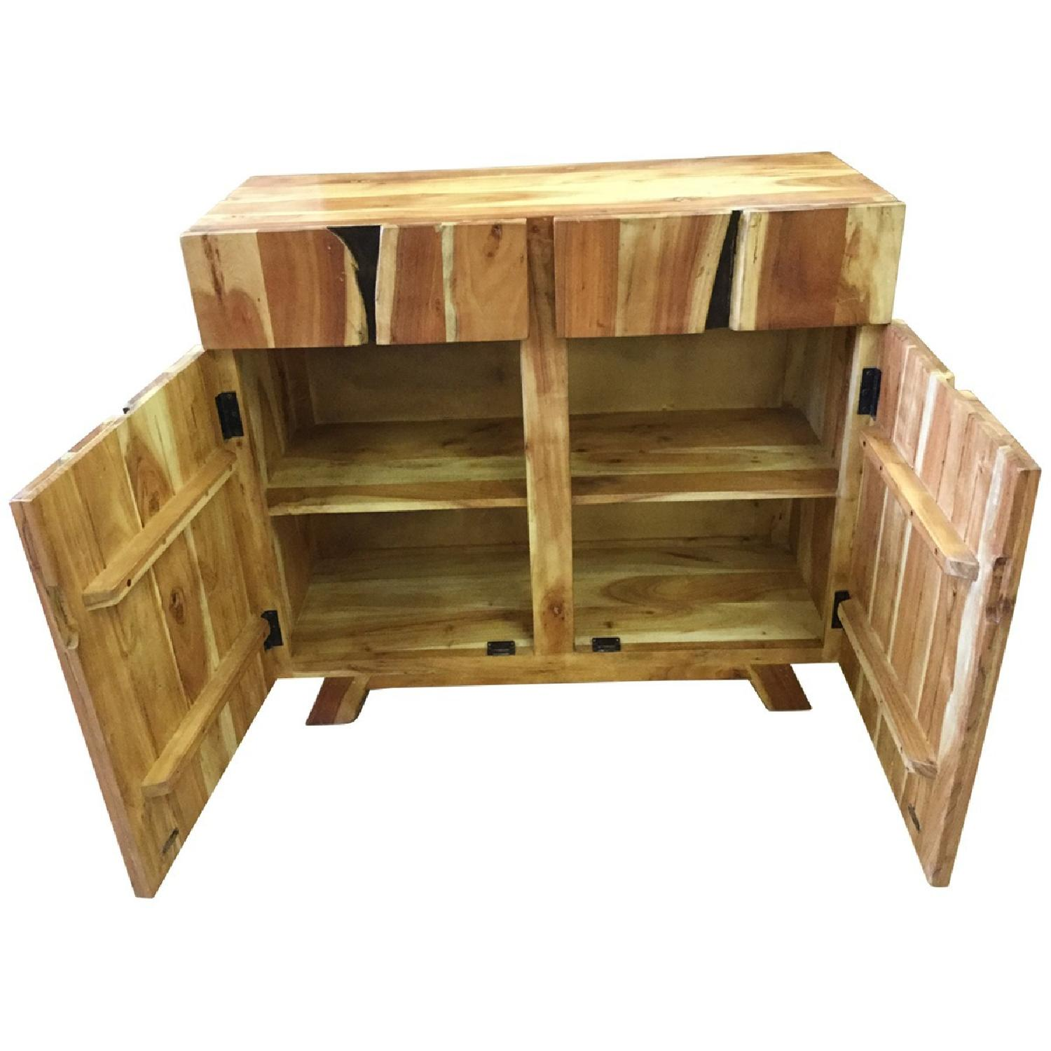 Wooden 2 Drawers Sideboard - image-2