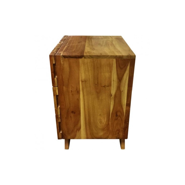 Wooden 3 Drawer Bedside Table - image-1