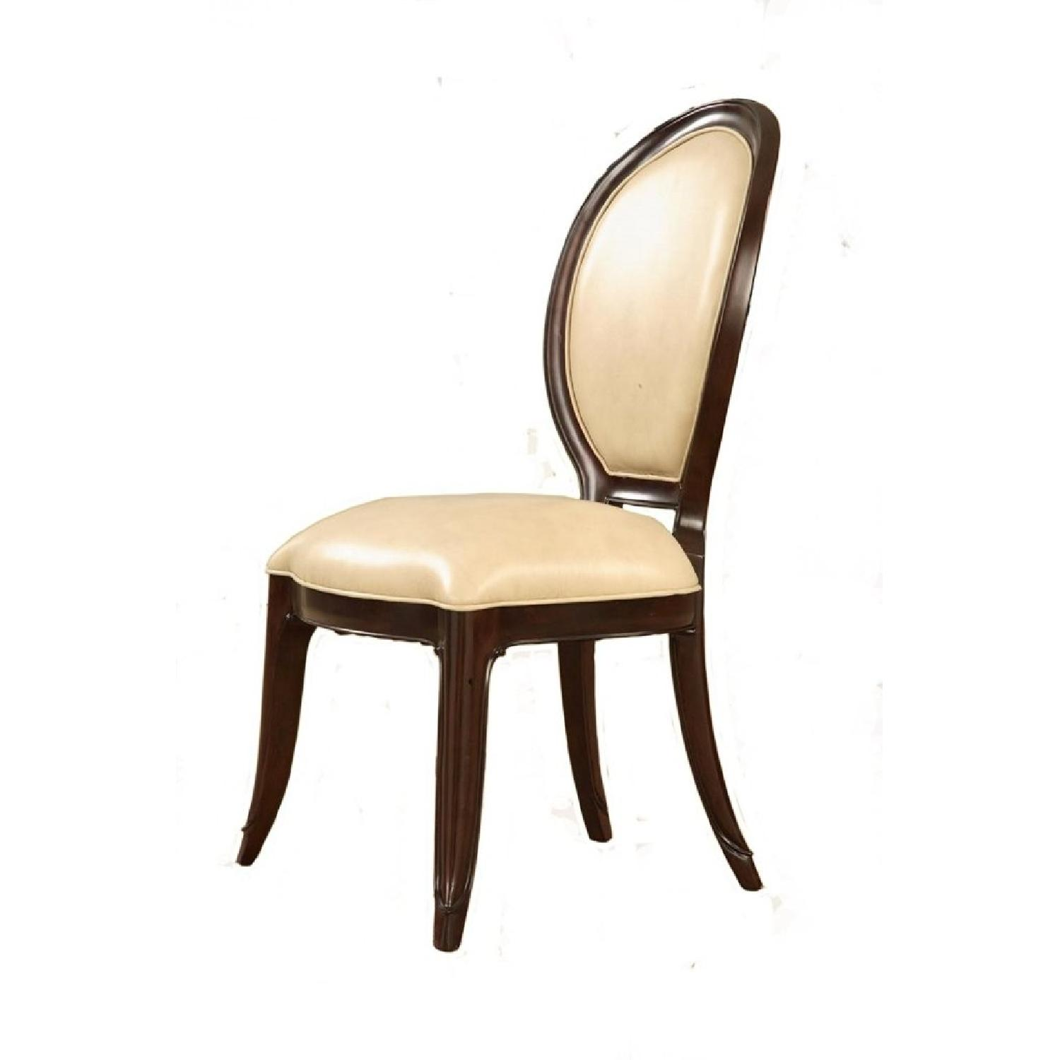 Mid Town Side Chair in Ivory Leather Back - image-0