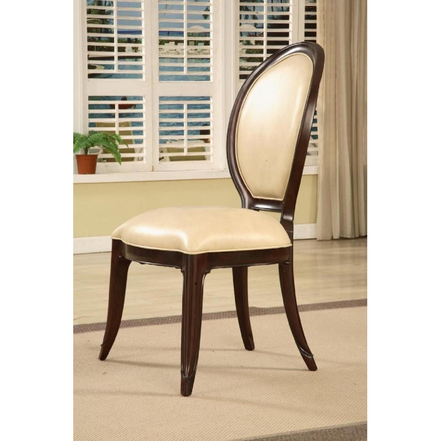 Mid Town Side Chair in Ivory Leather Back - image-1