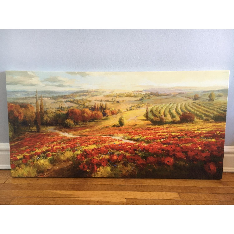 Tuscan Landscape Canvas Painting - image-1