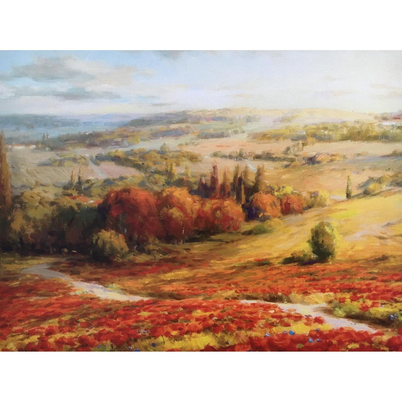 Tuscan Landscape Canvas Painting - image-4