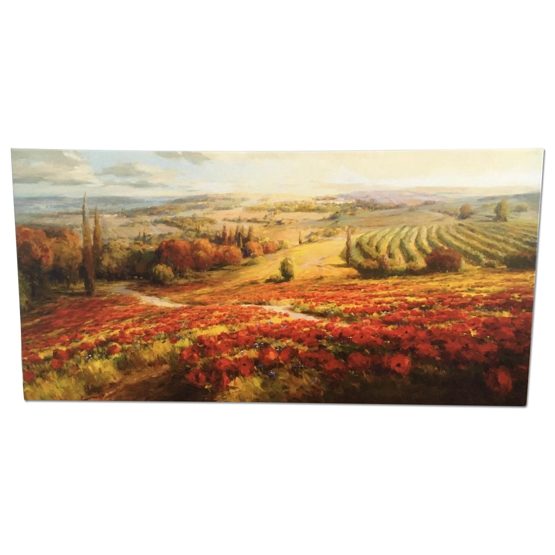 Tuscan Landscape Canvas Painting - image-0
