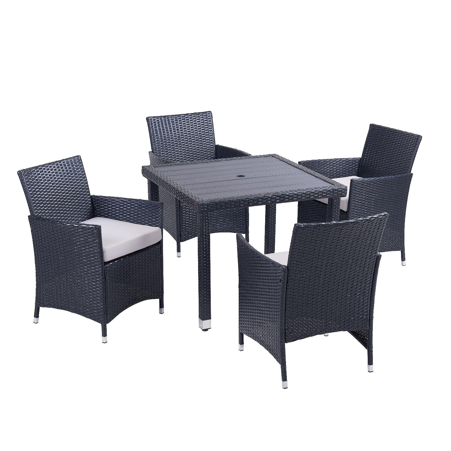 Mercer 3 Piece Outdoor Dining Set w/ Cushion - image-2