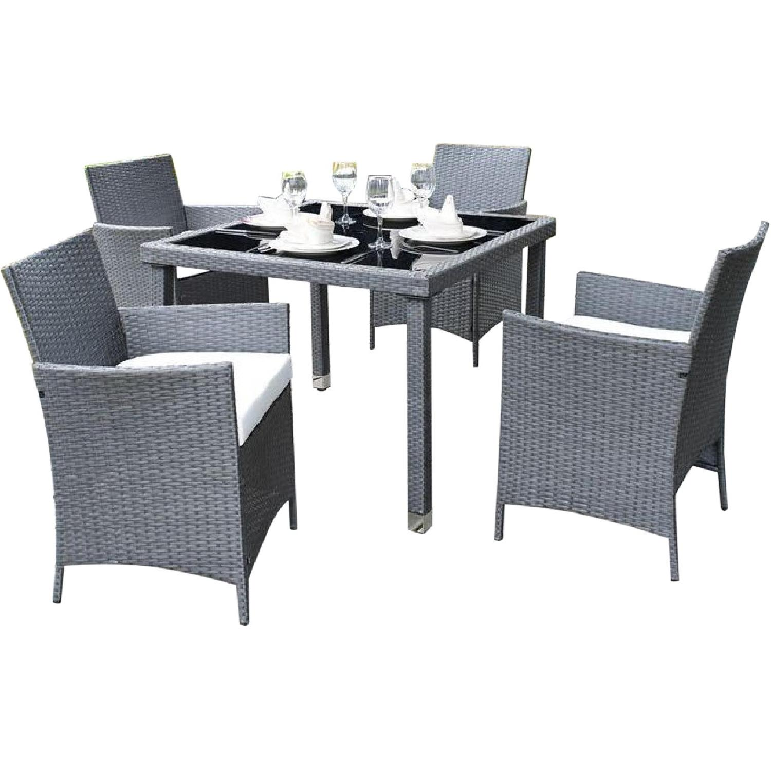 Mercer 3 Piece Outdoor Dining Set w/ Cushion - image-0