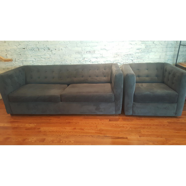 West Elm Rochester Sofa + Armchair - image-1