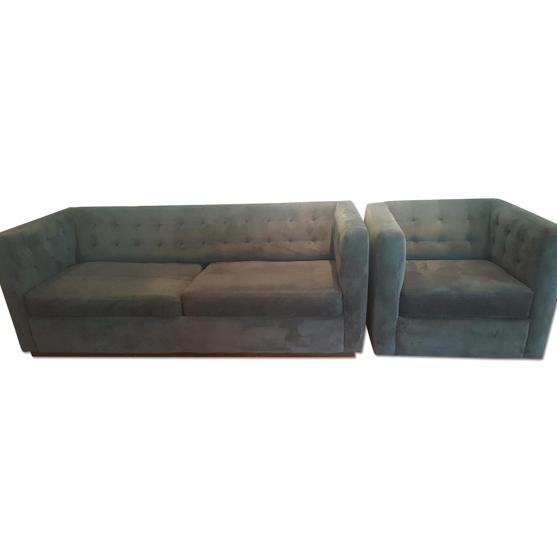 West Elm Rochester Sofa + Armchair - image-0