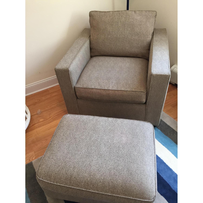 Room & Board Chair & Ottoman - image-1