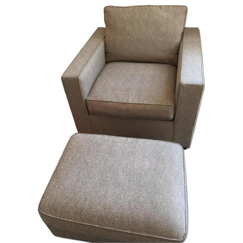 Room & Board Chair & Ottoman - image-0