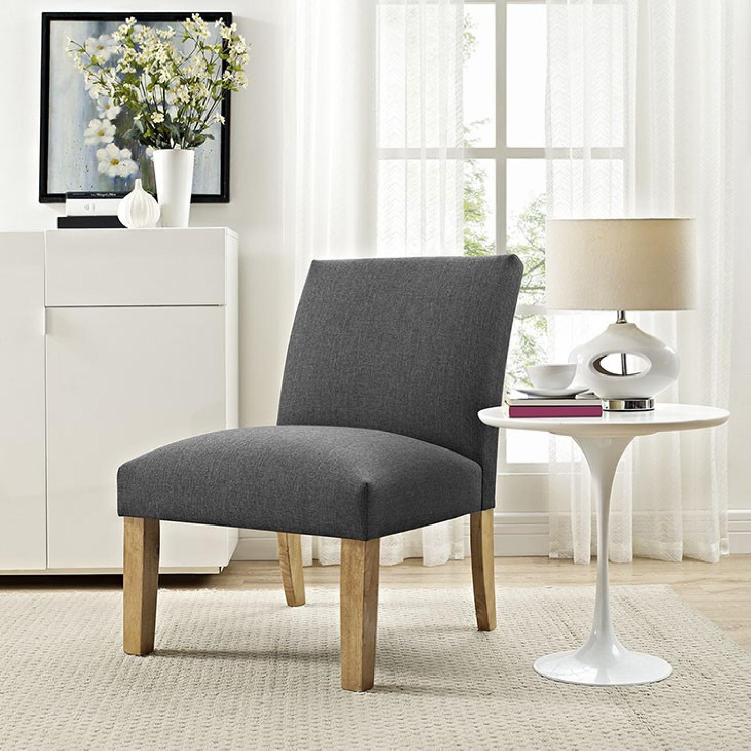 Grey Accent Chair - image-3