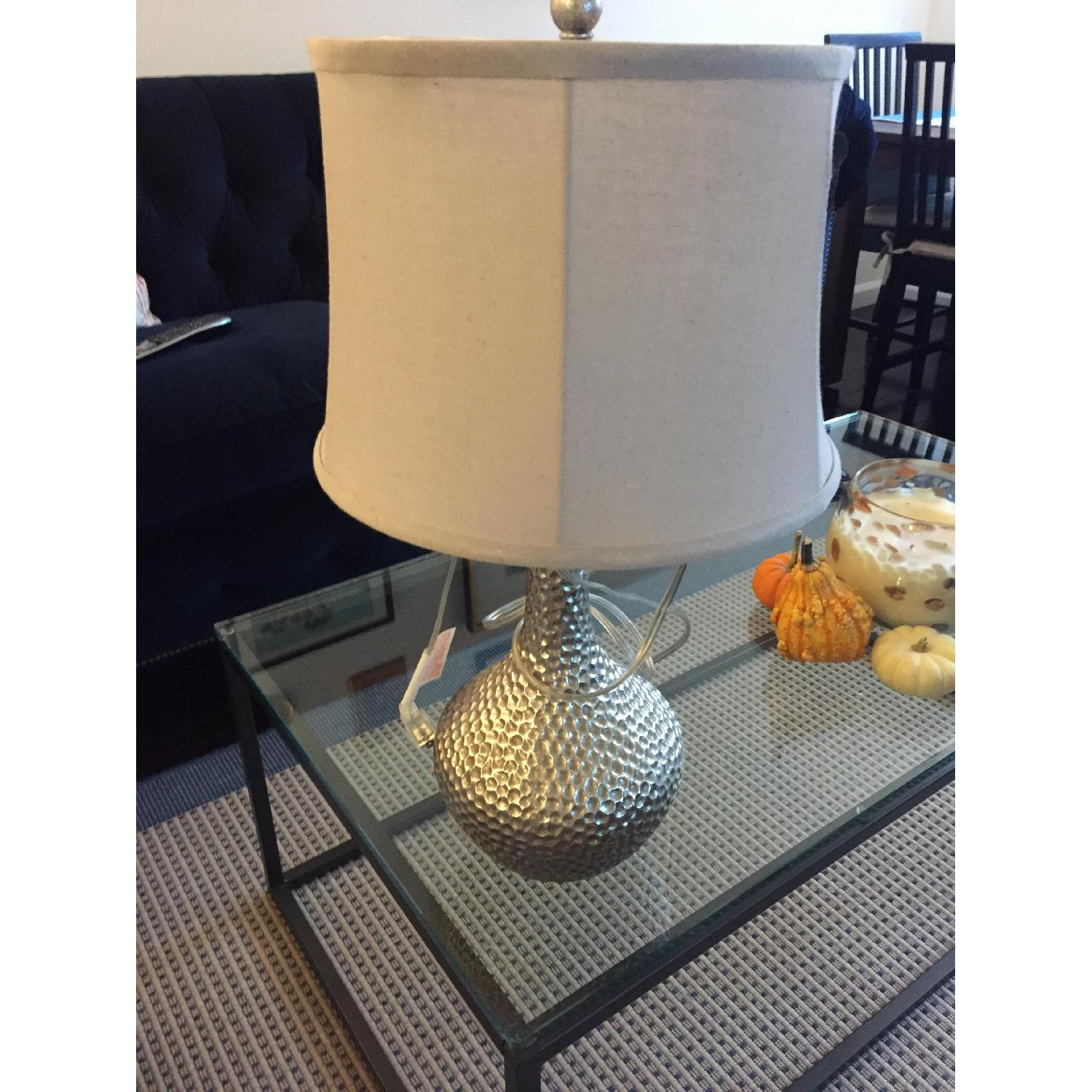 Pier 1 Silver Table Lamp - image-3