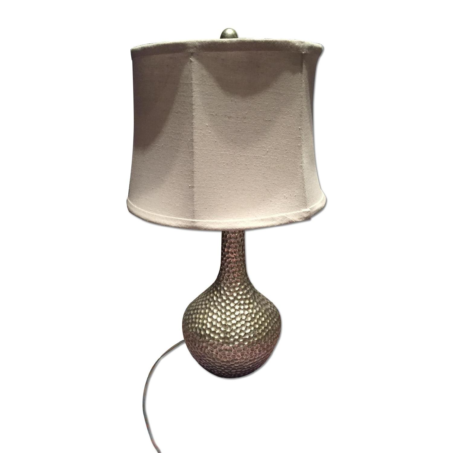 Pier 1 Silver Table Lamp - image-0