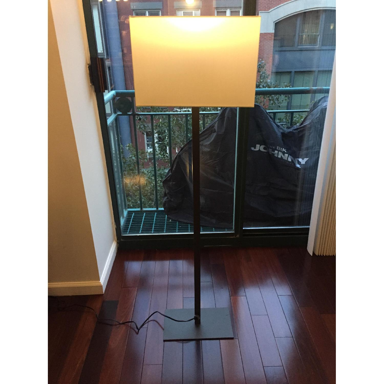 CB2 Gray & White Floor Lamp - image-1